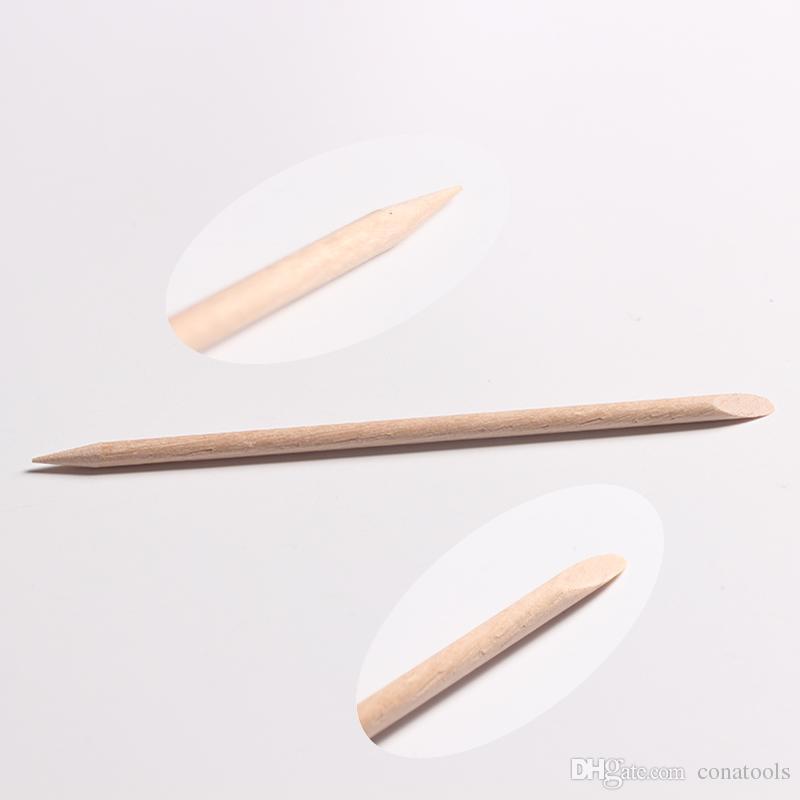 / Pack Nail Art Orange En Bois Bâton Cuticule Pusher Remover Pour Manucure Pédicure Beauté Salon Outils Chirstmas Cadeaux De Haute Qualité