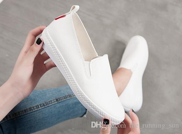 Yeni küçük beyaz ayakkabılar Kore rahat moda ayakkabılar Klasik Kanvas Ayakkabılar