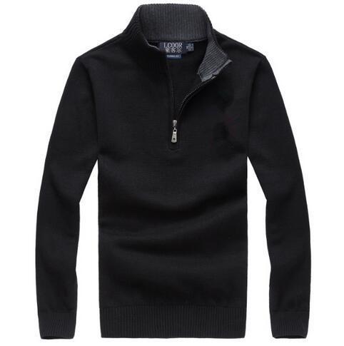 미국 자수 말 캐주얼 지퍼 스웨터 사용자 정의 스웨터 뜨거운 인기 골프 포니 남성 겨울 남성 점퍼 M ~ 2XL했다