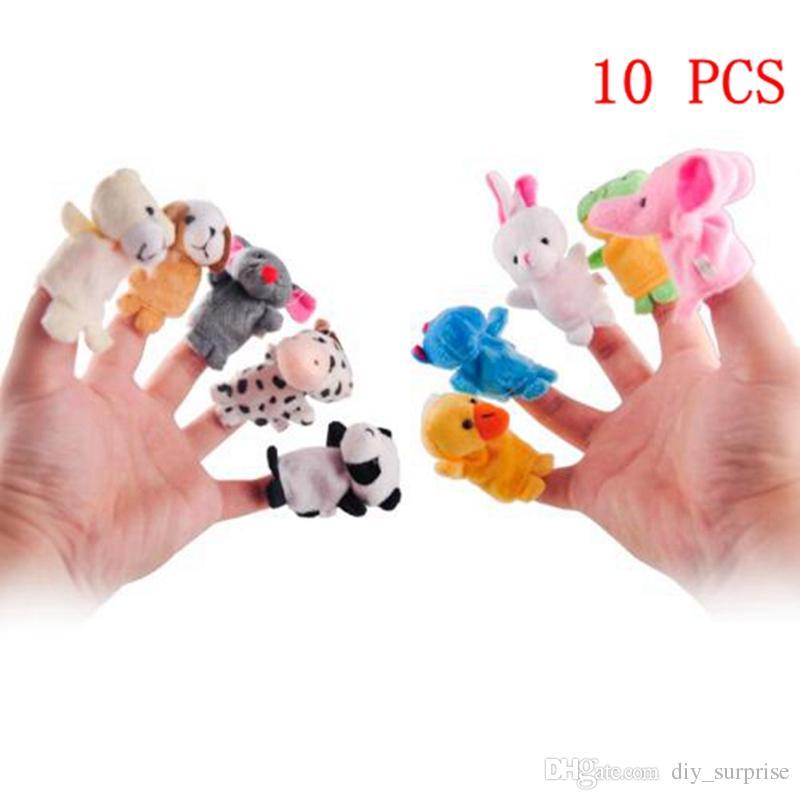 estilo beb felpa de juguete marionetas de dientes cuentan a historia props animales mueca de