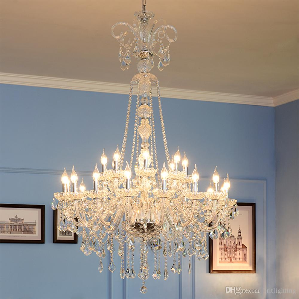 European style candle chandelier lamp double large arcades hotel european style candle chandelier lamp double large arcades hotel lobby chandeliers living room atmosphere beauty parlour crystal chandelier beauty salon aloadofball Image collections