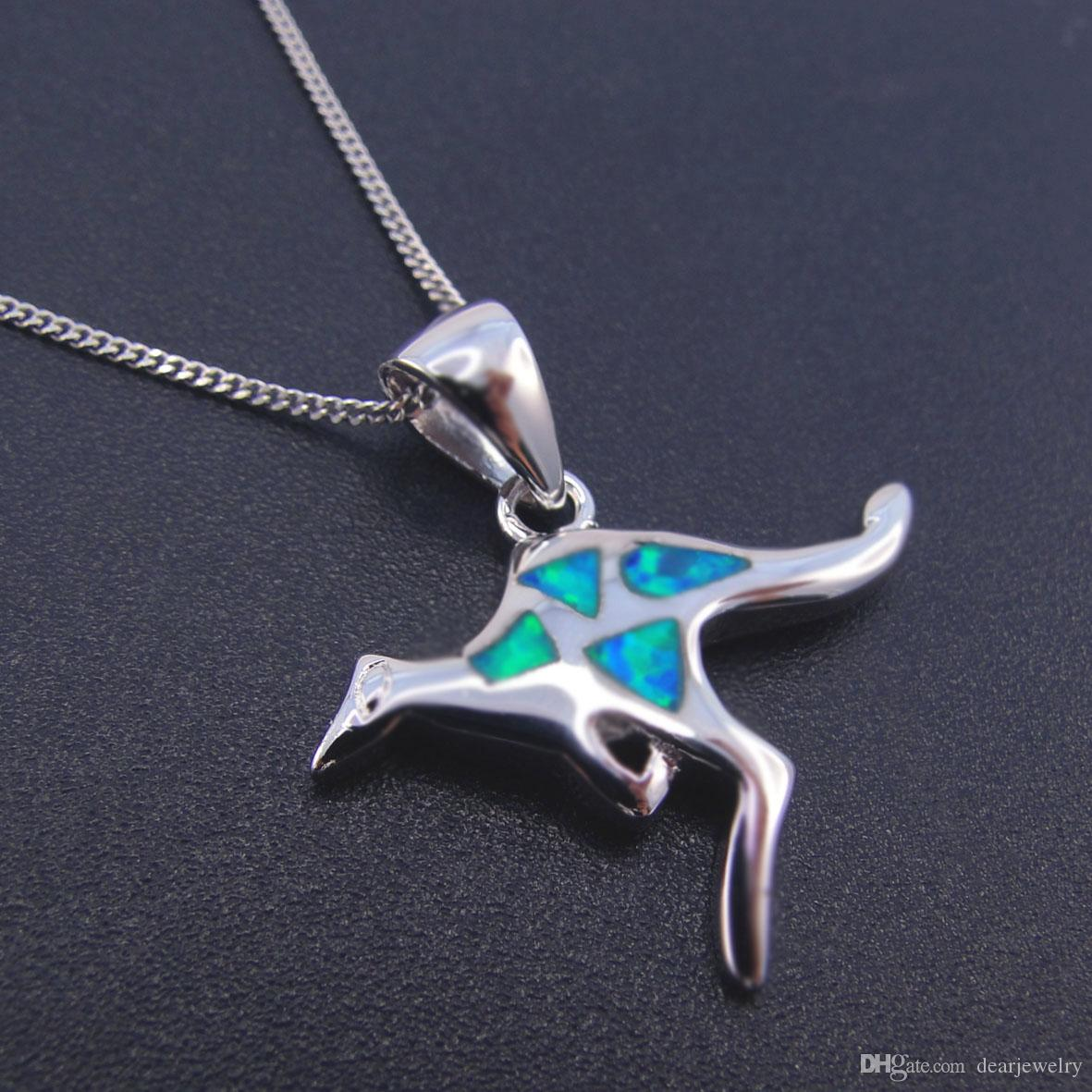 necklace created pendant zoom en lab mv zm kay kaystore blue hover silver sterling opal to