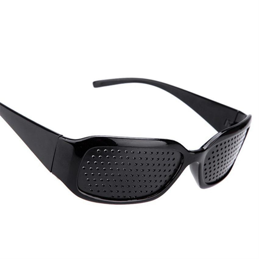 a704006a52e Wholesale Black Pinhole Sunglasses Anti Fatigue Vision Care Pin Hole  Microporous Glasses Eye Exercise Eyesight Improve Anti Myopia Cheap  Designer Sunglasses ...