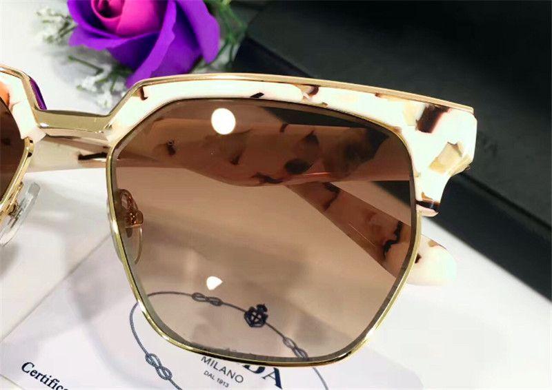 Moda italiana occhiali PD 20T cornice metà cornice quadrata e metallo speciale qualità del design superiore con la scatola popolare all'aperto in stile