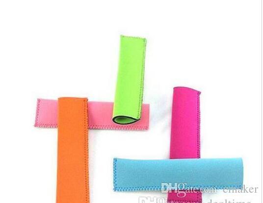 Atacado Popsicle Titulares Pop Ice Mangas Freezer Pop Titulares 15x4.2 cm para Crianças Ferramentas de Cozinha de Verão 10 cor