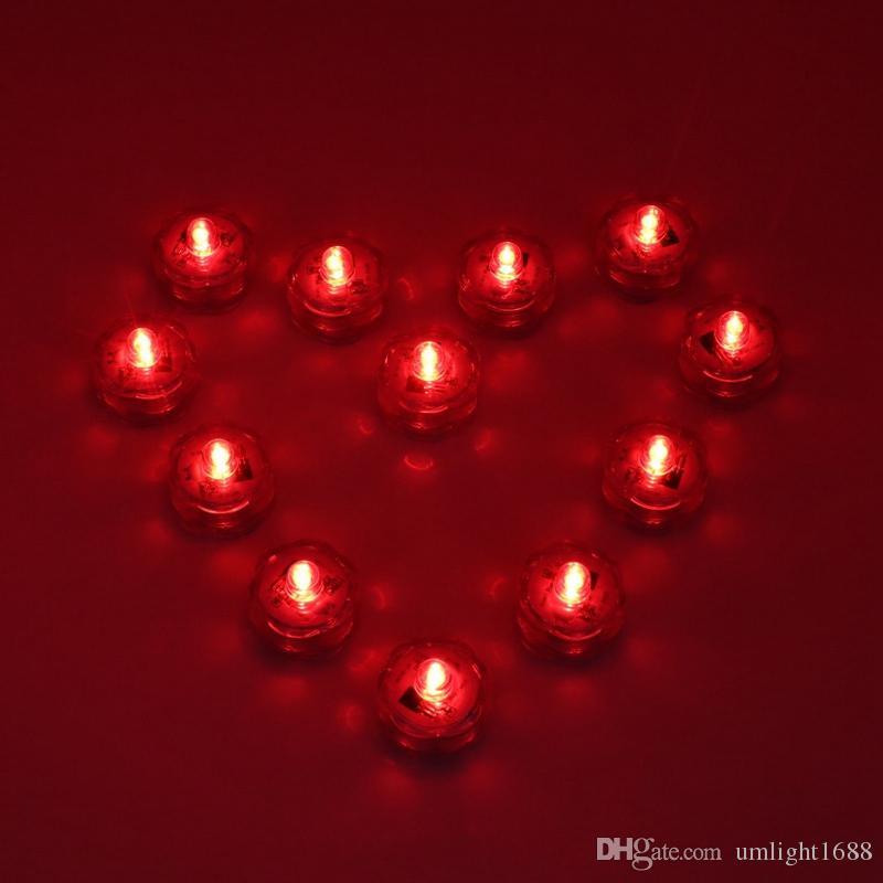 Umlight1688 12p جيم / مجموعة مقاوم للماء LED غاطسة أضواء RGB الأبيض والوردي والأرجواني الأزرق واللون الأحمر زهرية الزفاف الديكورات الحزب مع البعيد