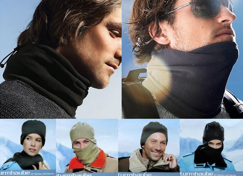 Hiver casquettes de ski chaud cyclisme vélo sport beanie Casquettes Masques écharpe polaire multifonctions chaud coupe-vent Chapeau crochets de protection du visage chapeaux