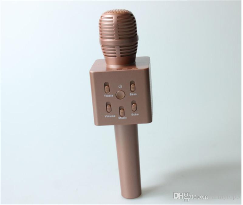 Yeni Q7 Kablosuz mini mikrofon Ev KTV Karaoke Mikrofon Oynatıcı Bluetooth Hoparlör ev partisi için iPhone samsung için