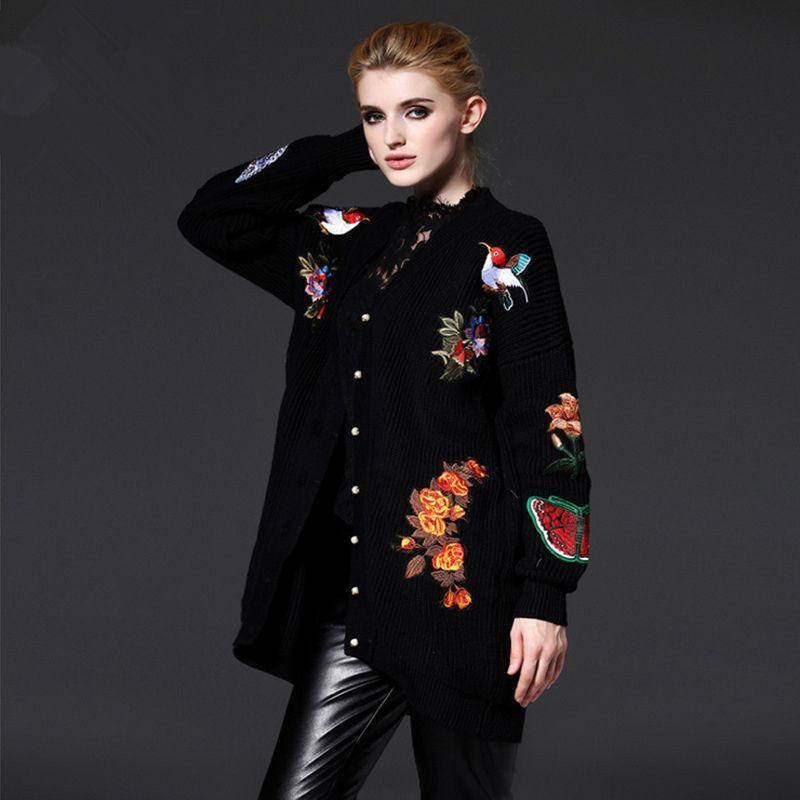 3cda6642f Wholesale-New Fashion 2016 Autumn Winter Women Knitted Long Outwear ...