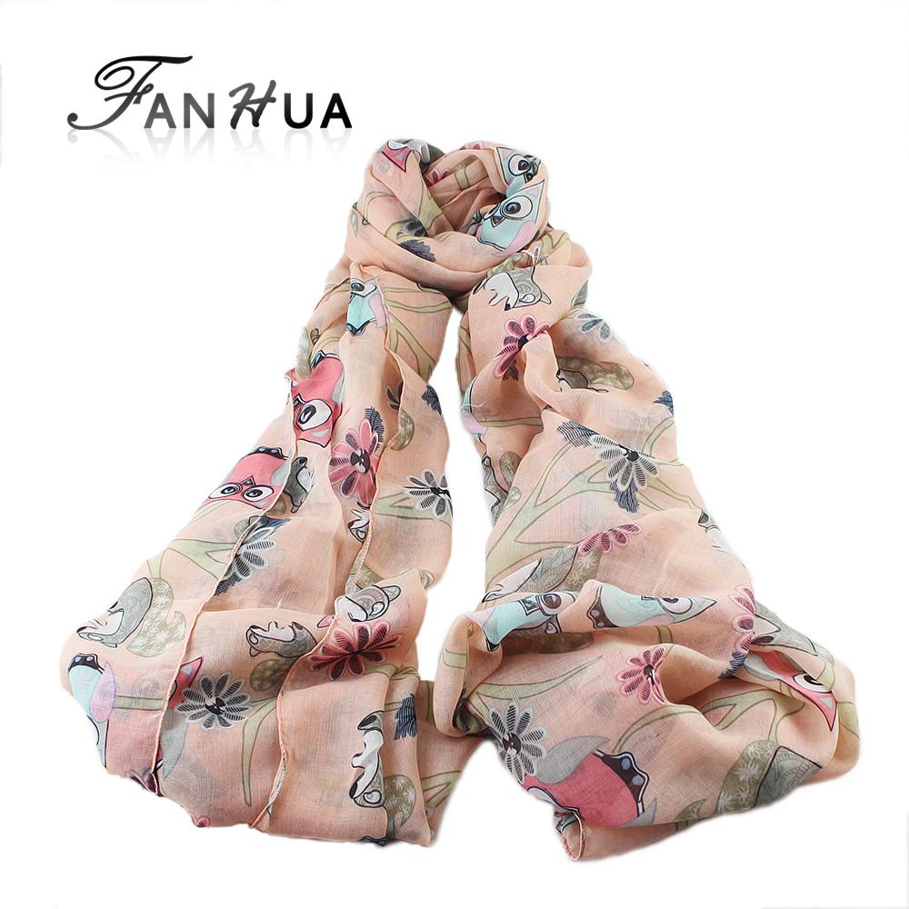 Acquista All ingrosso Mix Beauty Color Style Girls Owl Scoiattolo Tree Print  Sciarpa Donna Da Donna Large Long Soft Neck Sciarpa Warm Wrap Sciarpe  Scialle A ... c3a927185df