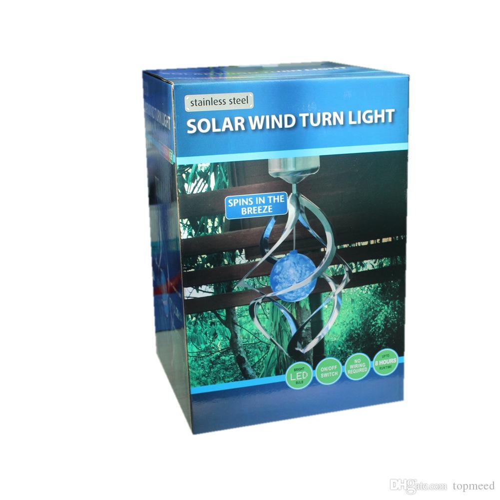 2017 RGB lâmpadas solares luz de relvado, luz Solar Sinos De Vento Soprador luz de noite LED Luz De Sol para o corredor Feriado Festa Decoração Luz