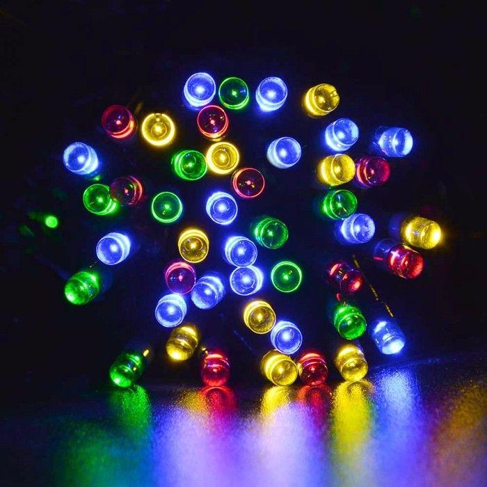 أزرق أخضر أبيض متعدد الألوان في الهواء الطلق الأصفر للطاقة الشمسية LED ضوء سلسلة الجنية حفلة عيد الميلاد مصابيح الطاقة الشمسية حديقة