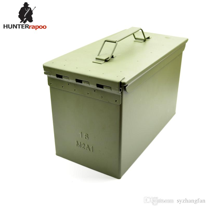 New 50 Cal Metal Ammo Can Military And Army M2A1 All Metal Box For Long  Term Storage By Solid Tactical Ammunition Case Ammo Can Ammo Box Ammunition  Case ...