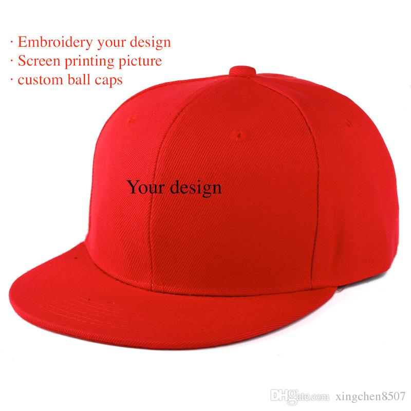 Custom Made Tide Baseball Cap Man Hip Hop Creative Flat Sun Hat Can  Embroidery Print Design And Picture Wholesale Fitted Hats Baseball Hats  From ... 401f8bdbb63