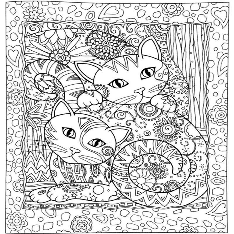Creative Haven Cats Colouring Book For Adults Antistress Coloring 185x21 Secret Garden Series Adult Pages