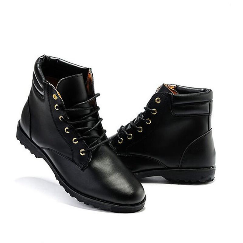 5d5afb7747d Wholesale Hot Sale New Spring Autumn Men Fashion Boots Punk Lace Up Ankle  Boots Casual Lace Up High Top Shoes Solid Martin Boots For Male Ankle Boots  Cowboy ...