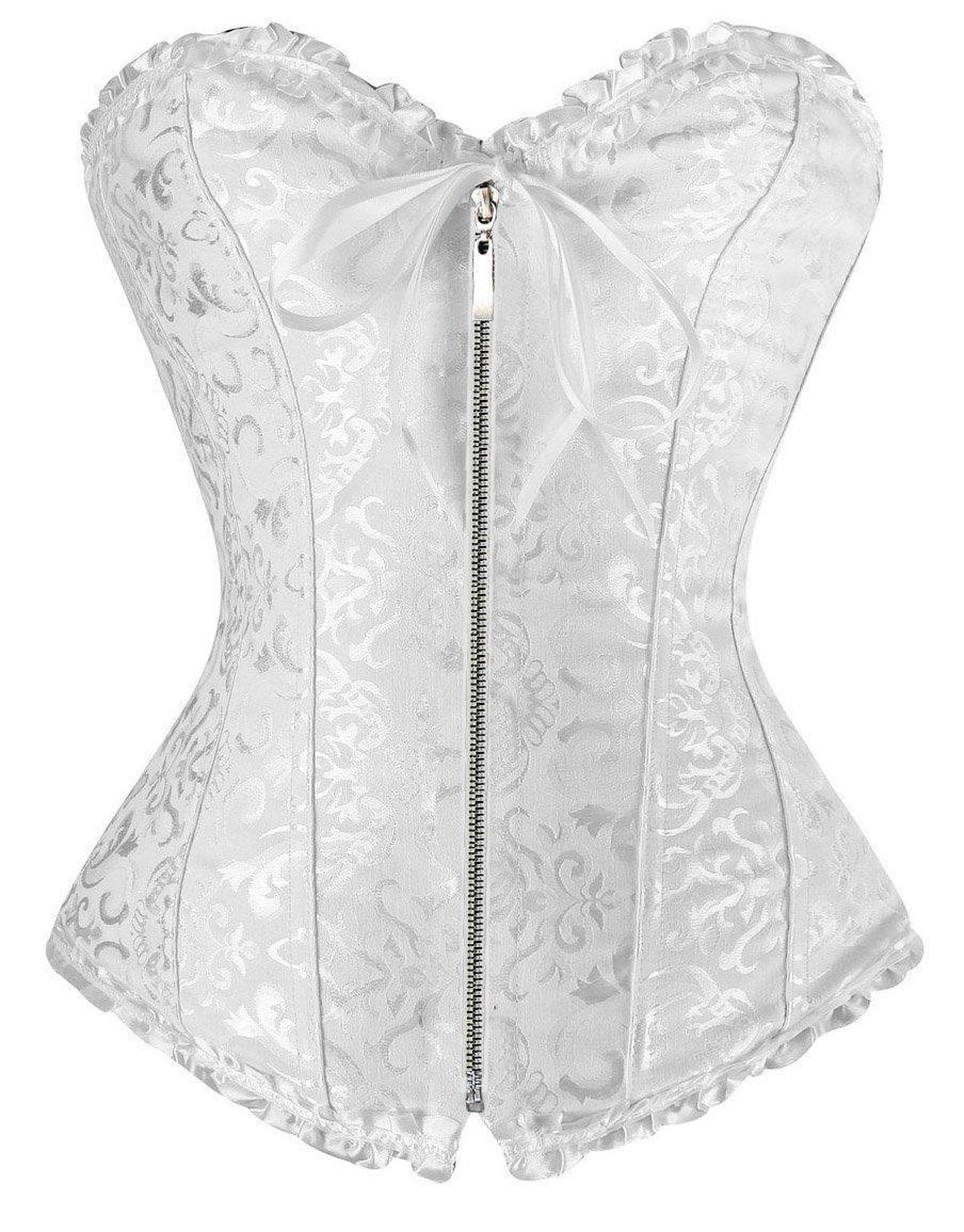 2016 Factory Sale Cheap Corsets Women Sexy Wedding Lingerie Front Zipper Corset Overbust Plus Size Corsage Waist Trainer Bustier