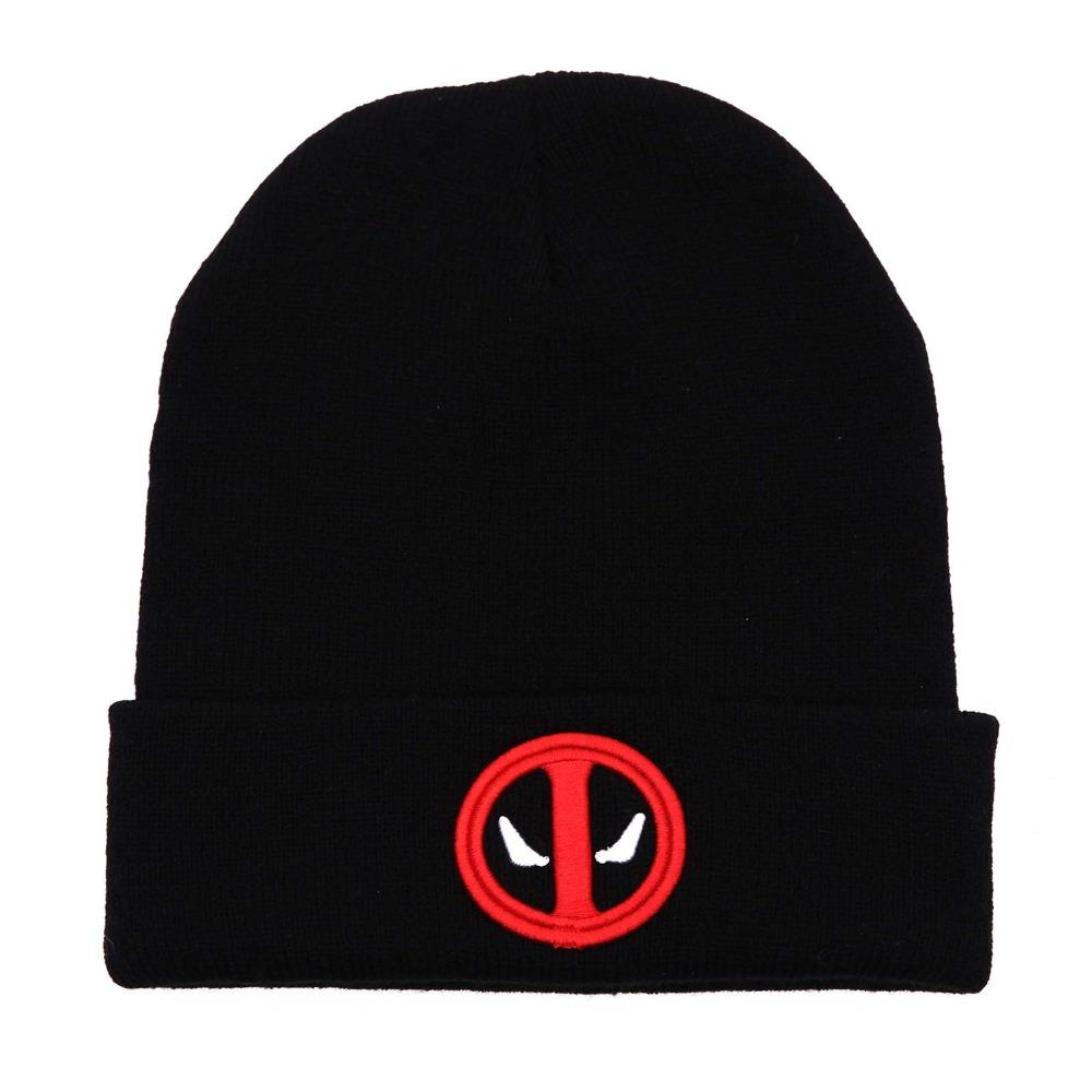 New Hot Selling Cotton Deadpool Winter Hat Embroidery Men And Women Hats  Soft Solid Beanies Hip Hop Warm Knitted Caps Gorros Beanie Boo Trucker Hats  From ... f2ddac6e6e3a