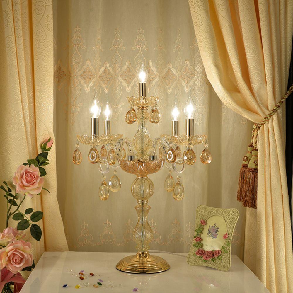 2018 Glass Table Lamp Wedding Decoration Table Light Bedroom Modern ...