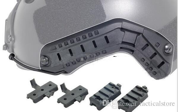 4шт набор ACH-ARC шлем аксессуар рельс крепление комплект железнодорожный адаптер для OPS шлем рельс крепление черный/хаки