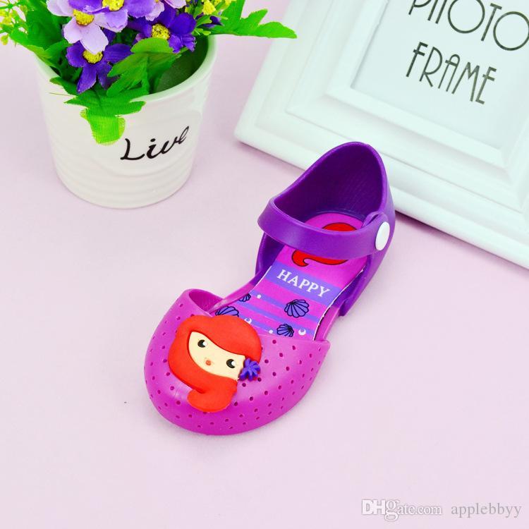 Meliss 젤리 슈즈는 사랑스러운 공주 신발 도매 여름 새로운 여자 샌들의 한국어 버전을 인어 DHL