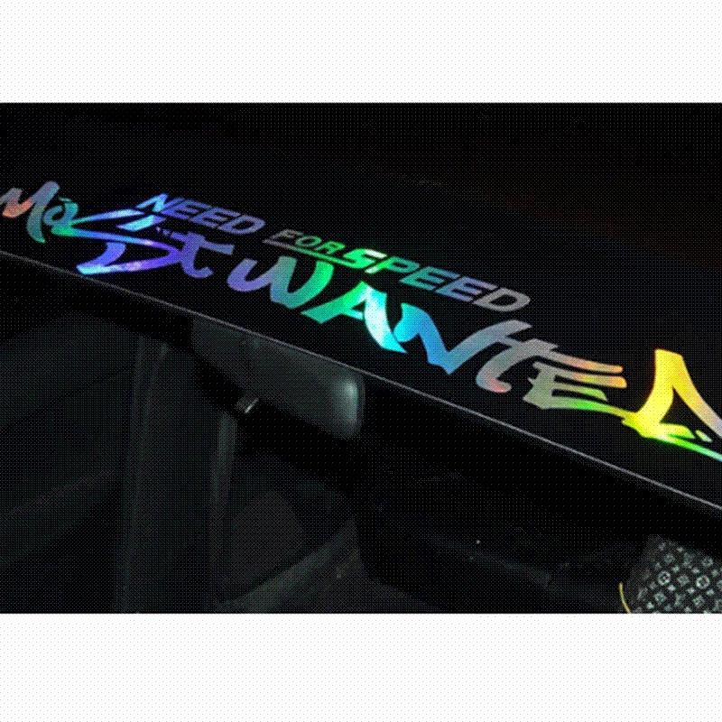 Neue Laser Reflektierende Buchstaben Auto Auto Frontscheibe Windschutzscheibe Aufkleber Aufkleber Für Bmw Audi Peugeot Car Styling
