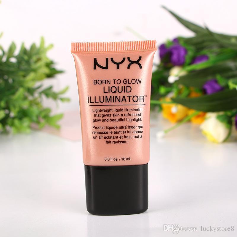 مؤسسة NYX السائل الوجه المخفي ماكياج الولادة إلى الوهج السائل المنور BB كريم جعل 18ML بودرة مستحضرات العناية بالبشرة