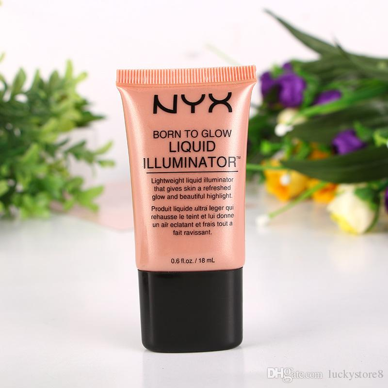NYX Liquid Foundation Face Concealer Makeup Born To Glow Liquid Illuminator BB Cream Make Up Powder Cosmetics Skin Care 18ml