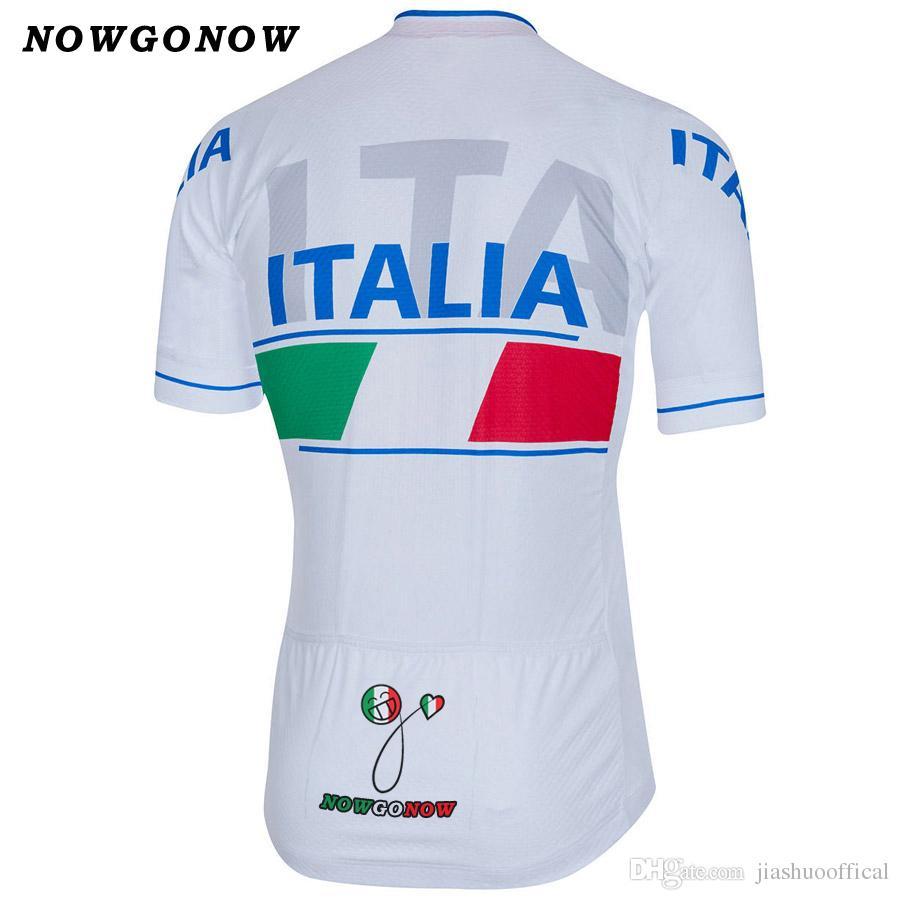 Özelleştirilmiş YENI Sıcak 2017 Italia Klasik mtb yol YARI Takım Bisikleti Pro Cycling Jersey / Gömlek Tops Giyim Solunum Hava JIASHUO