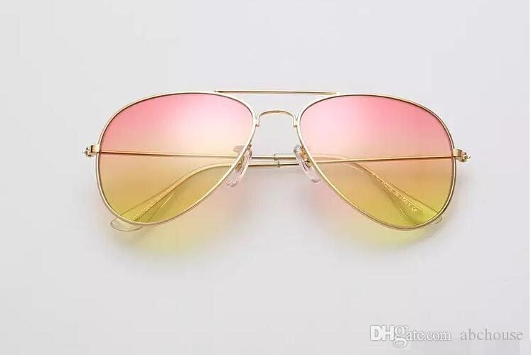 Cheap Branded 58mm Metal Frame Men/ Women's Sunglasses Gradient Color Lens Sun Glass MOQ