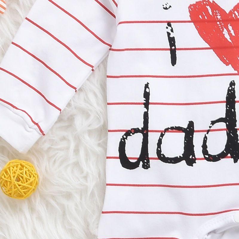Mikrdoo adorável macacão de bebê 2017 recém-nascido eu amo múmia papai criança traje listrado estrelas menina menino jumpsuit clothing set roupas de inverno terno