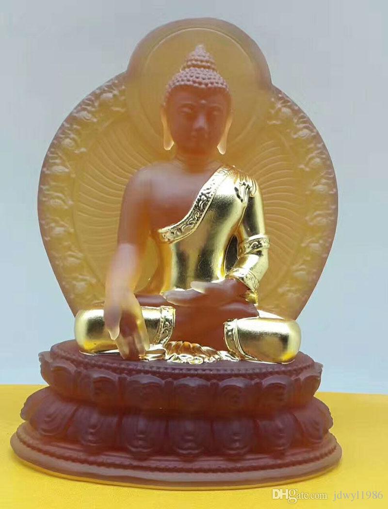 New Buddha statua farmacisti lapis lazuli luce i golding vetrato vistoso guru della medicina Buddha buddismo statua nel paese