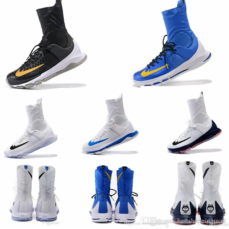 info for 953cb afa7d ... Discount 2016 Kevin Durant Kd 8 Elite Home White On Court Black Gold  Wolf Grey Men