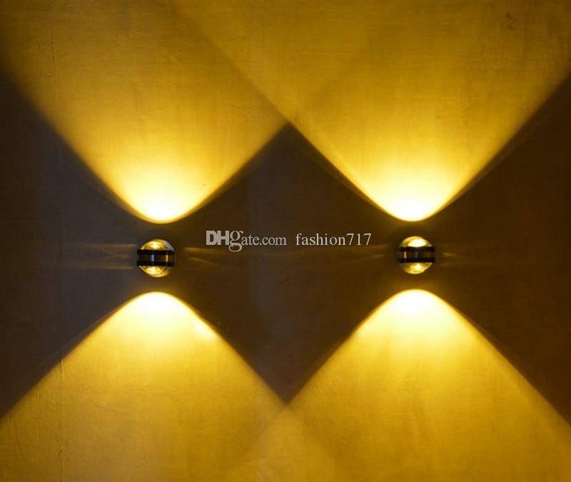 Modern Minimalist AC85V-265V 2W LED Aluminum Wall Lamp Living Room Bedroom Bedside Lamp Aisle crystal Wall Lamp