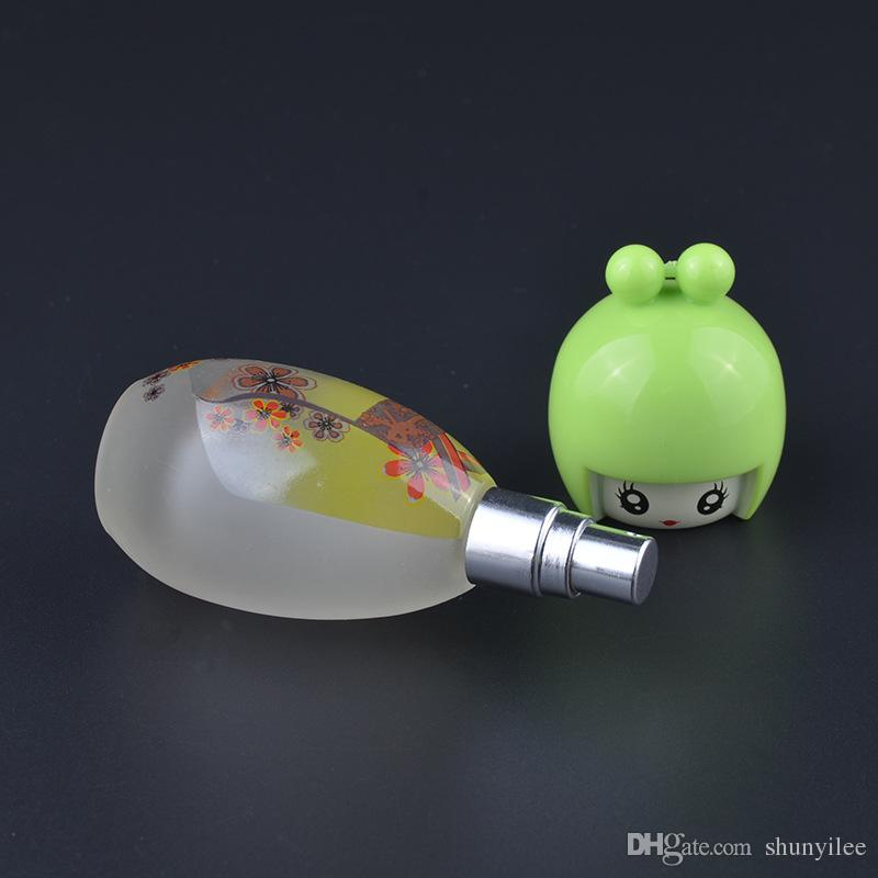 20 ml 향수 병 인형 모양의 스프레이 향수 유리 병 다채로운 유리 향기 병 리필 되나요 빠른 배송 F201704