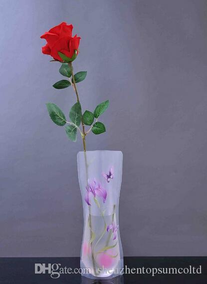 DIYフラワーミックスサイズ折りたたみポリ塩化ビニールの折りたたみ式小さなoppバッグ環境にやさしい折りたたみ式の花瓶からの環境に優しい花瓶
