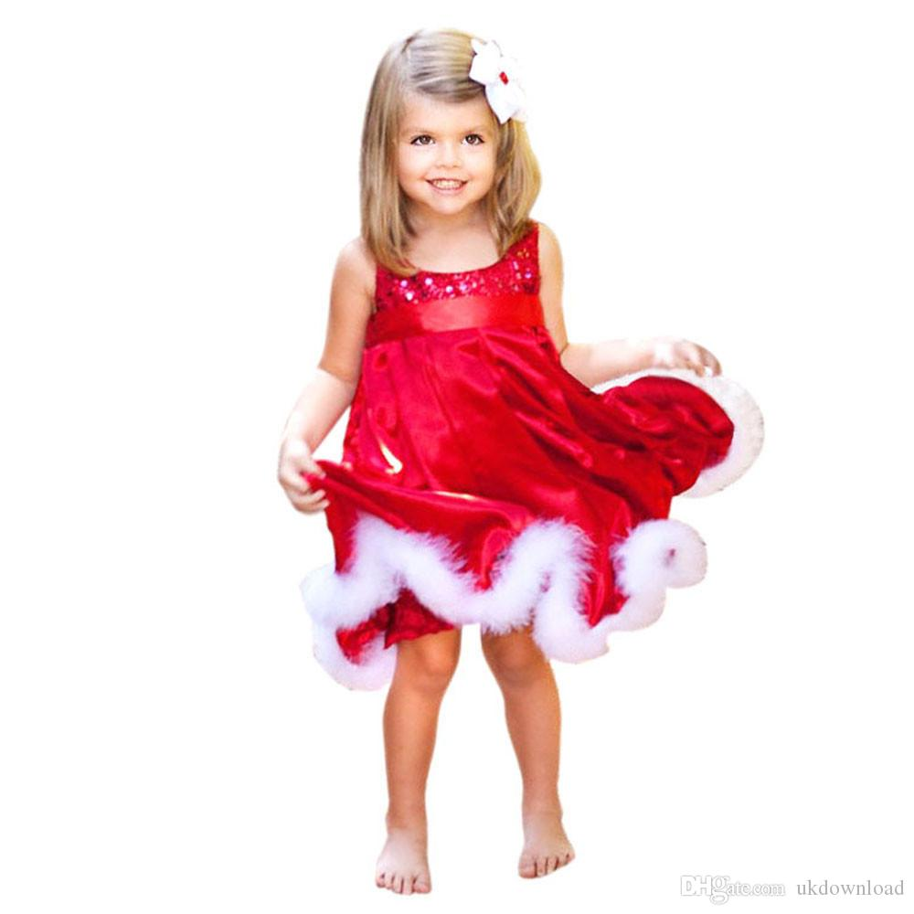 new baby girls kids christmas party red dressjpg