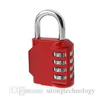 4 Digitale Mechanische Schloss Gym Schrank Box Tasche Passwort Vorhängeschloss Kupplung Diebstahlsicherung Aluminiumlegierung Sicherheit Diebstahlschutz Schlösser