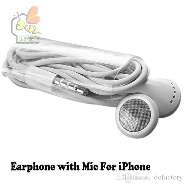 High quality Stereo Earphone Earphones for Iphone Color Headset Earbuds w Mic for iphone 6 5 4 4s 3gs for Samsung S3 S4 S5 300ps