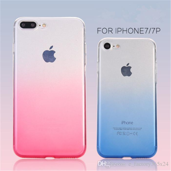Kawaii Handy Hullen Fur Iphone 7 Plus 6 Tpu Fall Regenbogen Farben Weiche Dunne Gradient Schrittweise Anderungs Ruckseitige Abdeckungs