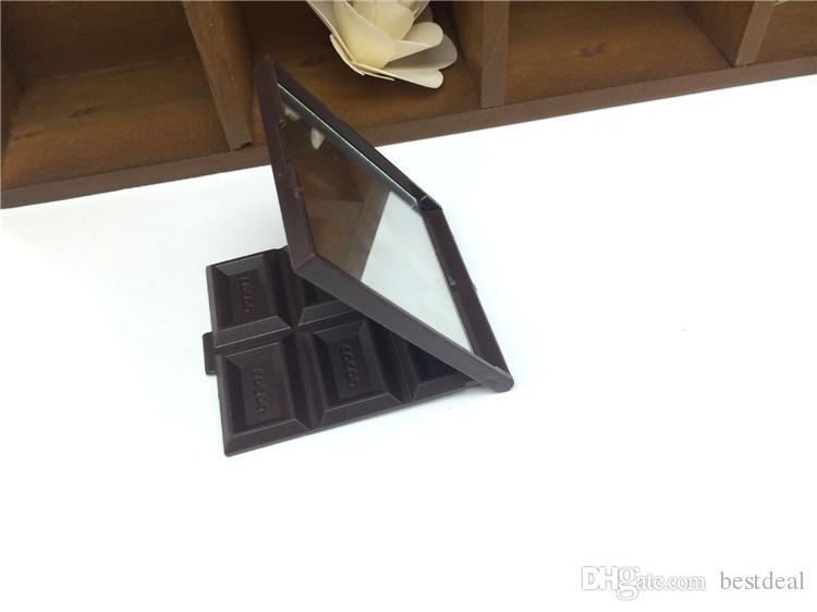 Freies Verschiffen / NEUER kreativer netter Schokoladenverfassungsspiegel / kosmetischer Spiegel der beweglichen Tasche / Taschenspiegel / Art- und Weisegeschenk / Großverkauf