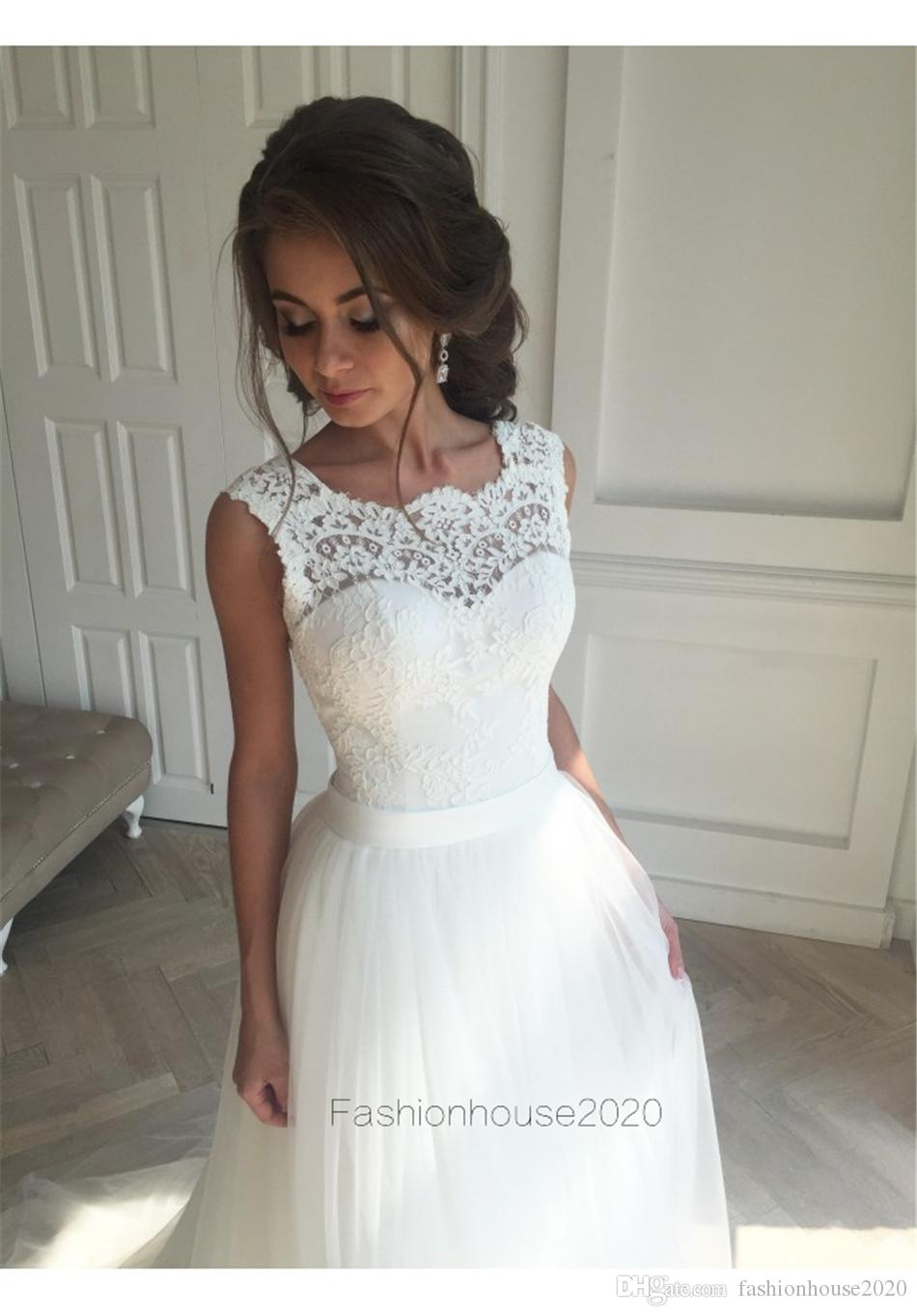 Vintage Lace Country Wedding Dresses Silk Sash Appliques Plus Size Beach Wedding Dress With Open Back Bridal Gowns Custom Made