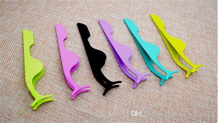 50 stücke Curvex clip edelstahl wimpernzange sexy Wimpern Applikator Make-Up Kosmetik Werkzeuge augen curling für wimpern X020