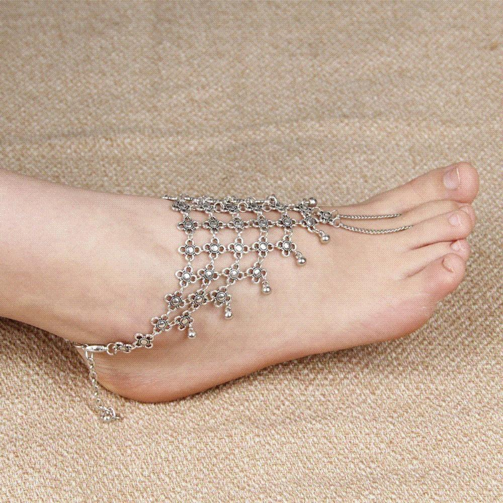 ankle foot boho anklets gypsy bracelet for summer item anklet big jewelry coin turkish tribal ankles silver style bohemian kmvexo