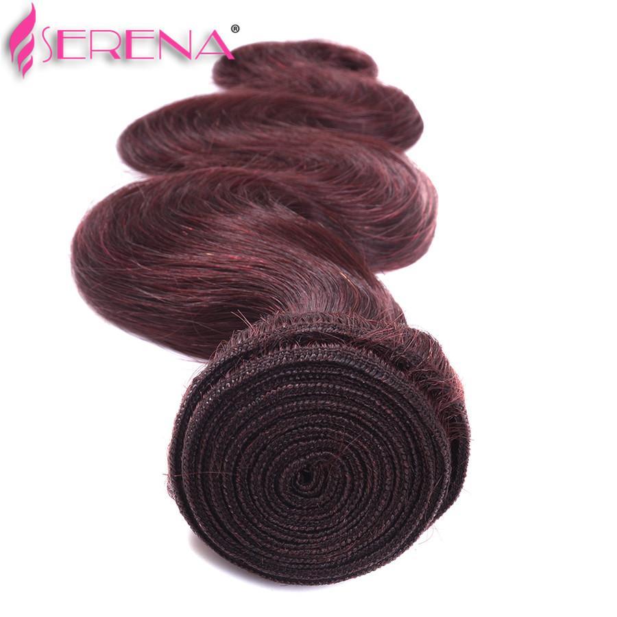 3 Bundles 99j Burgundy Red Dark 8A Indian Ombre Hair Weave Bundles Body Wave Straight Ombre Human Hair Extensions Brazilian Hair Bundles