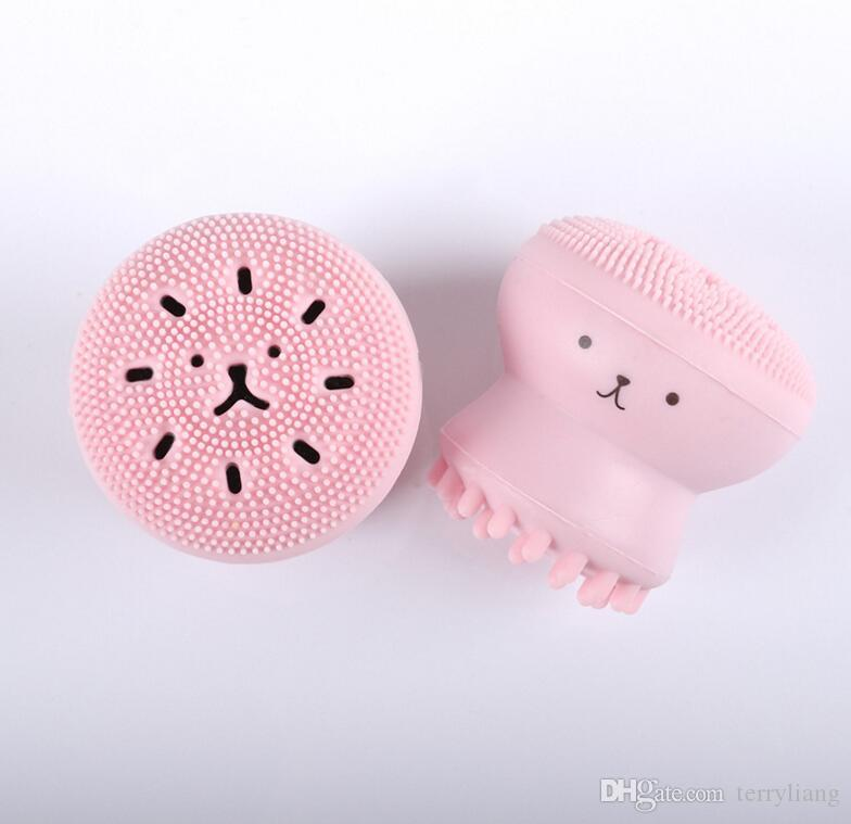 Suavemente Escova de Limpeza Facial de Silicone Manual Função Multi rosto Massagem Esfoliante cuidados com a pele Ferramenta silcone escova de lavar o rosto