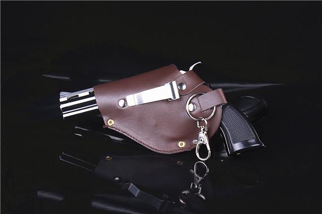Grand modèle en métal d'arme-à-feu de revolver d'allumeur de briquet en métal de coupe-feu de type Revolver 1: 1 en métal.
