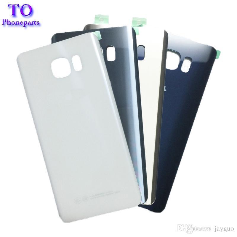 Couverture arrière en verre de batterie pour Samsung Galaxy Note 5 N920 N920F Retour Logement remplacement avec Adhensive Livraison gratuite