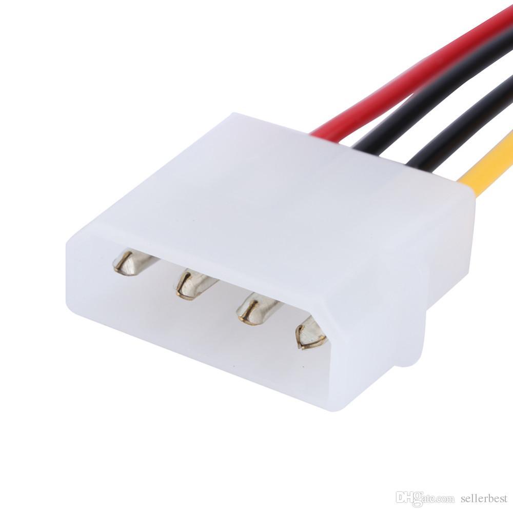 Serial ATA SATA 4 Broches IDE à 15 Broches HDD Adaptateur Secteur Câble Disque Dur Adaptateur Mâle à Câble Femme Livraison Gratuite