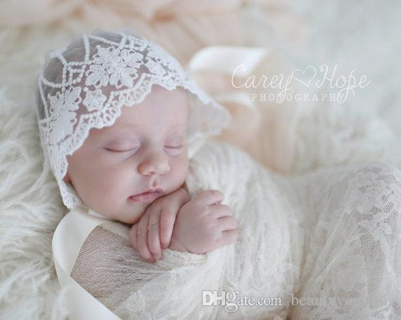 Handmade Hollow Flower Lace Hat Newborn Baby Kids Summer Caps Girls Bonnet Hats Children Photograpy Props